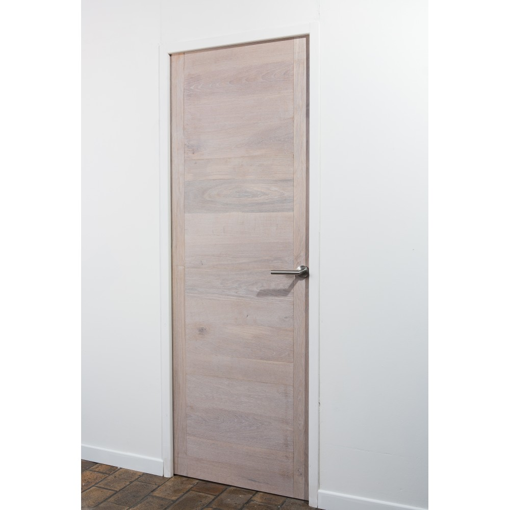 Stick 39 door ch ne finition blanc coton stickwood la for Decoration a coller sur porte