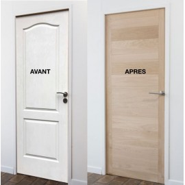 Les kits de r novation de portes lame de bois adh sive for Placage porte de cuisine