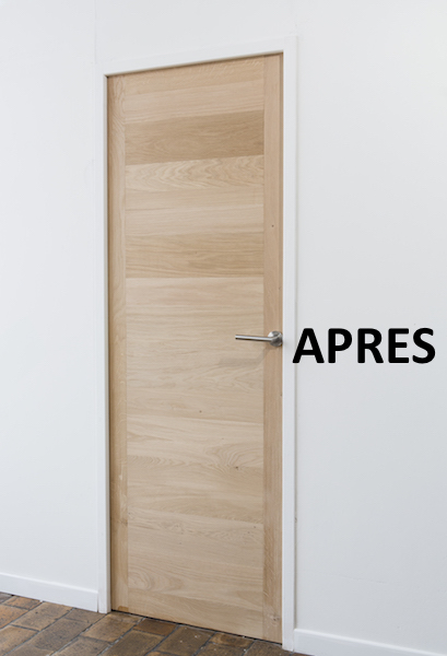Les kits de r novation de portes lame de bois adh sive for Decoration a coller sur porte